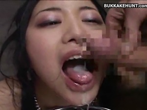 Mosaic No Sound: Asian Teen Cumshot Galore