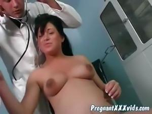 Pregnant seduced by horny doc