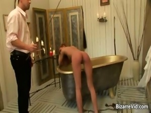 Super hot blond bitch gets butt spanked part5