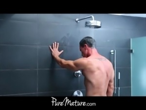 PureMature HD mom gets facial free