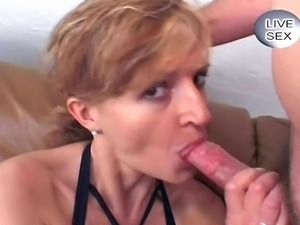 This crazy mature bitch wanted some extra cream on her cake... and she got...