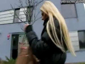 Gorgeous amateur blondie Czech slut Katka pai