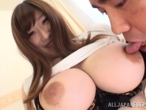 dude licking and sucking huge breasts