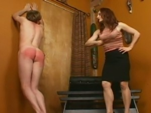 Bad boy got spanked by mature