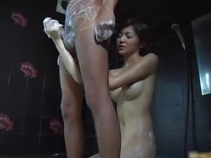 Hijiri kayama strokes cock with great