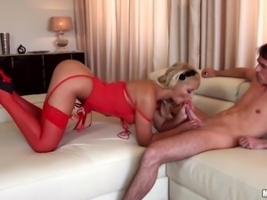 milf lana adores the cock of the young man