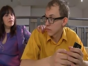 Nerd boy loses virginity with stepmother