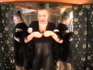 Viktoria dances and strips