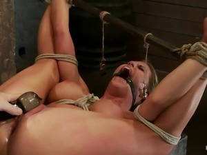 blonde milf charisma tied, pleased and fingered