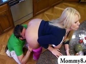 Big ass mature teacher with a teen couple