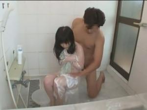 Teens gets ambushed in the Bathroom - Chihiro& Kana (1 of 3)
