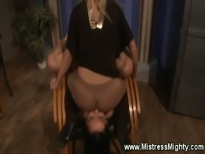 Mistress dishes out lezdom punishment free
