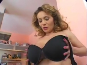 Very hot European woman with huge tits!
