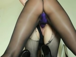 Secret women sucking strap on dildo