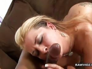 Black cum for hot blonde