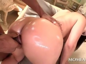 Hot ass house wife pussy nailed from behind by huge dick