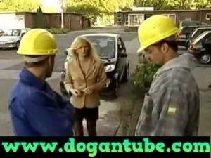 German Mom fucked by two Construction Workers -  www.dogantube.com free