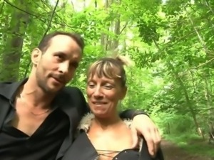 Shanaelle a mature anal fucked in the woods