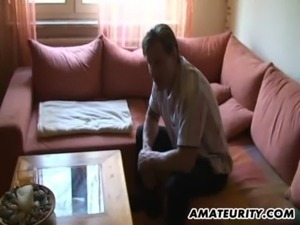 Busty mature amateur Milf sucks and fucks free