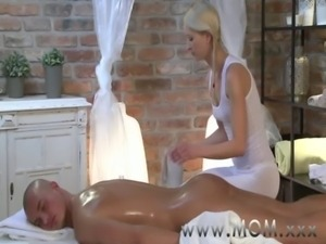 MOM Blonde MILF takes his length free
