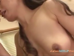 Skinny Mature Woman Sucking Young Guy Getting Her Shaved Pussy Fucked On The...