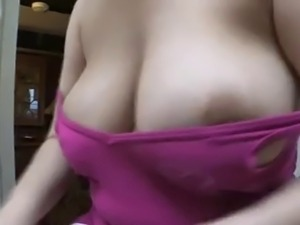 Horny milf downblouse