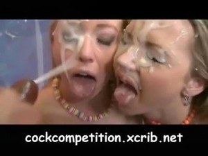 Cock Competition - Sexy sluts fight for HUGE cock -movie3 free