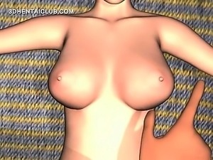 Anime sex slave gets naked body teased