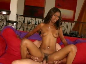 Wild black lady enjoy sweet taste of hot cum
