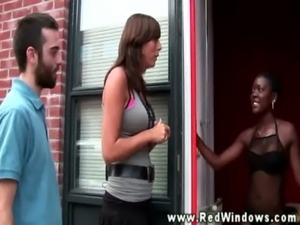 Black Dutch hooker sucking tourist dick free