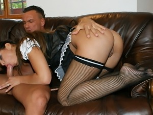 French maids are nailed and cum covered