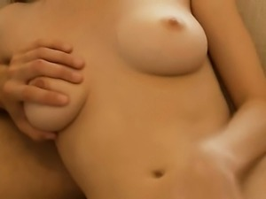 Cumming on neck of my breasty girlfriend
