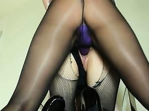 Secret babes sucking strap on toy
