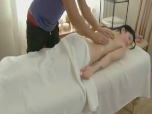Pleasuring chick with massage free