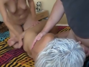 nanny gets some threesome action
