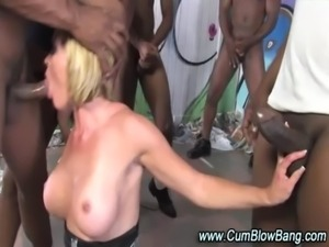 Interracial black cock sucking slut free