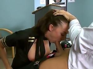 Horny flight attendant Chanel Preston enjoys fucking hot stud  Keiran Lee