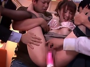 Check out with depraved Asian beauty Tsubasa Amami offering her hairy pussy ...