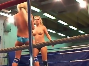 A backstage movie from the fight club with wild chicks Laura Crystal and...