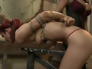 Hardcore and crazy BDSM scene with a gorgeous babe Lucy and Mandy Bright
