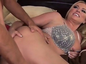 Look at wild adventures of gorgeous alluring blonde MILF Briana Banks fucking...