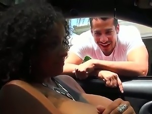 Brannon Rhodes gets picked up on the street by curly black momma Selena Star...