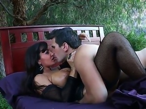 Enjoy spicy depraved brunette whore Lisa Ann pleasuring wild adventures with...