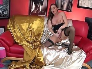 Mature pornstar Silvia Saint enjoys hardcore solo masturbation scene