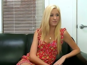 Long legged tall blonde model Emily Kae surprises is with her body at the...