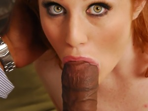 Sweet redhead Charlie Fire is being fucked rough