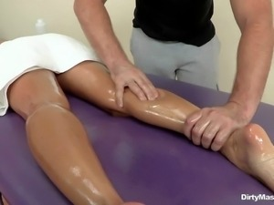 Oiled up milf Ava Addams has nothing to hide and