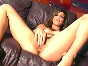 Young and gorgeous babe Melanie Rios work out and touches her narrow pussy