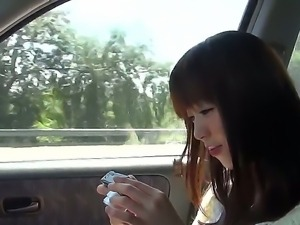 Manuel Ferrara and his Asian girlfriend whose name is Marica in the car