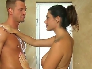 Bill Bailey came to get a professional Nuru massage by appetizing babe Raylene